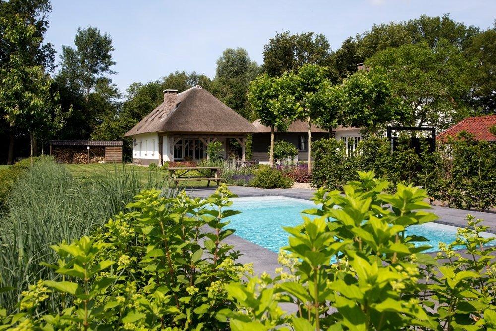 Siebers-Tuinprojecten-Tuin-Hovenier-Boerderij-zwembad-Hortensia-overzicht-landelijke-tuin-achteraf-wonen-en-leven-aanleg-onderhoud-rieten-kap.jpg