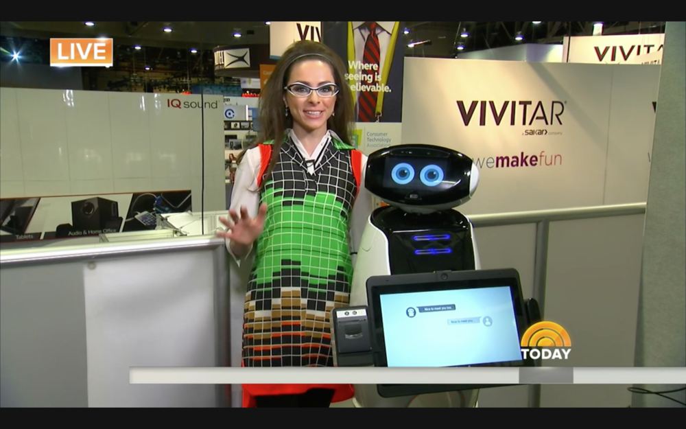 Katie at CES 2017 in Las Vegas