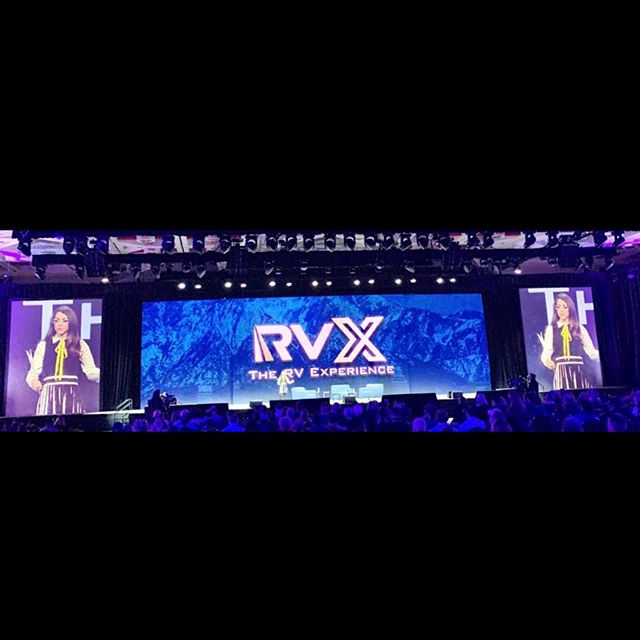 Honored to emcee today @rvindustryassociation #RVX about innovation and disrupting the status quo! #ad 🌄🗺 . . #rvlife #rvindustry #techdisruption #techtrends #outdoorlife #outdoorlifestyle