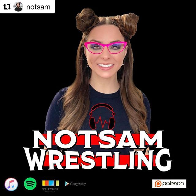 #Repost @notsam ・・・ Guess who's back!  @katielinendoll returns to @notsamwrestling today to breakdown WrestleMania season!  Get it now on iTunes, Spotify, stitcher, YouTube, patreon, or Notsam.com! . . #wrestling #wwe #wwesmackdown #wweraw #katielinendoll #notsam