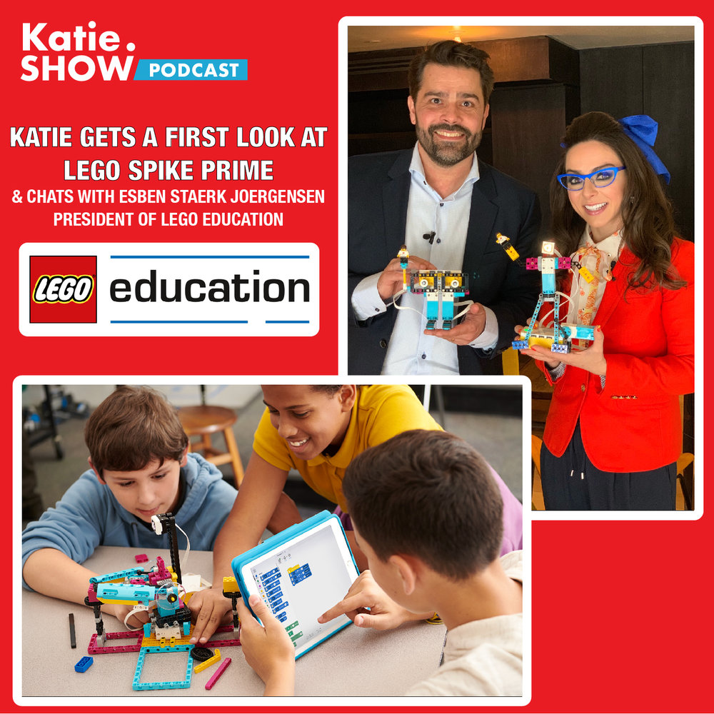 Katie chats with Esben Staerk Joergensen President of LEGO Education about their newly unveiled LEGO SPIKE Prime, which puts STEAM education in the classroom.