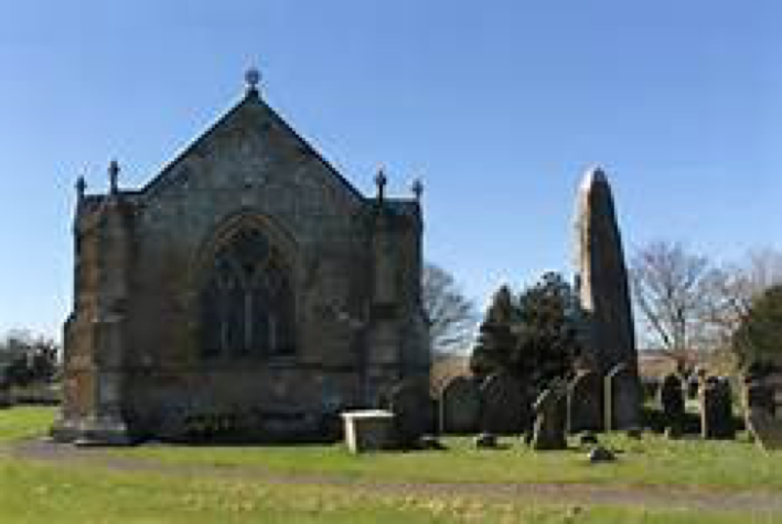 Rudston Church, built beside a monolith