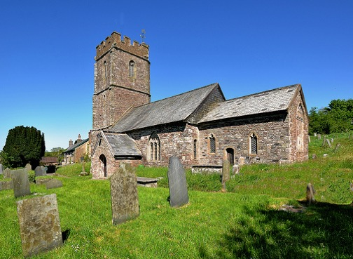 Exterior of the Church of St Mary, Molland, Devon.