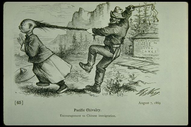 Pacific Chivalry, Thomas Nast, 1869.