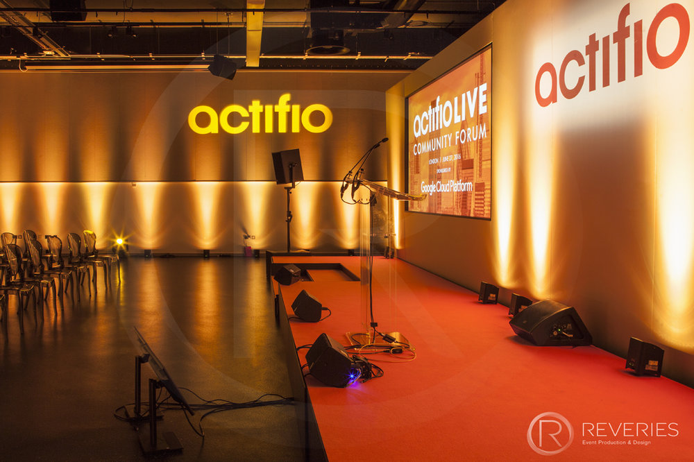 Actifio Conference - Bespoke stage design and full AV set up