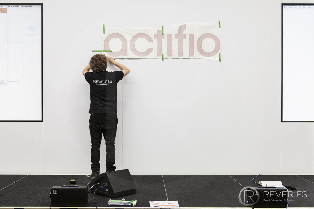 Actifio Conference - One of the Reveries Events expert team at work