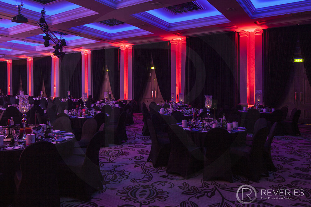 Burns Night Supper - The room with table design and mood lighting