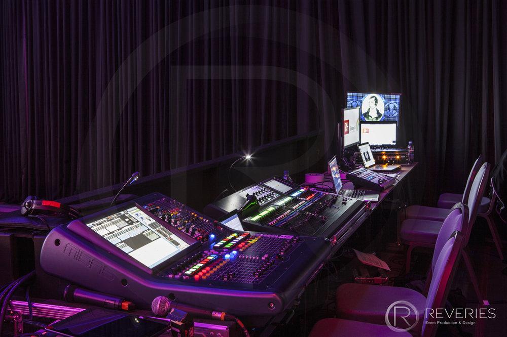 Burns Night Supper - AV production control desk
