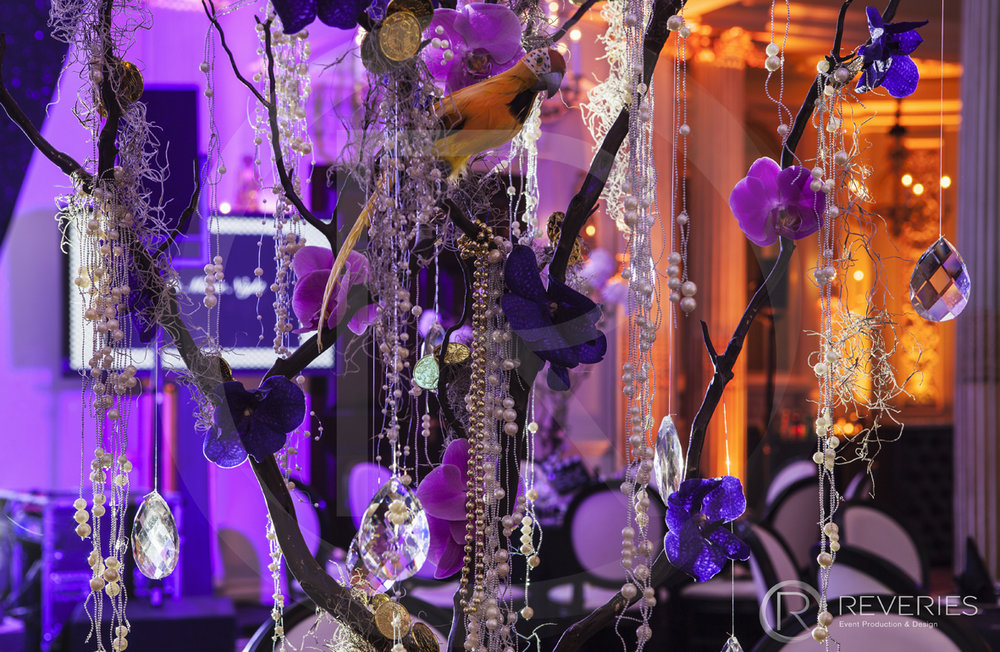 A Night At The Movies - Bespoke table centrepiece detail