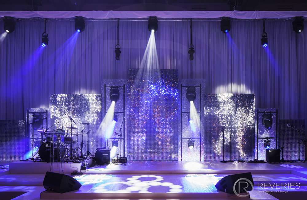 Snowman Spectacular 2016 - Bespoke stage design with full AV set up for live band