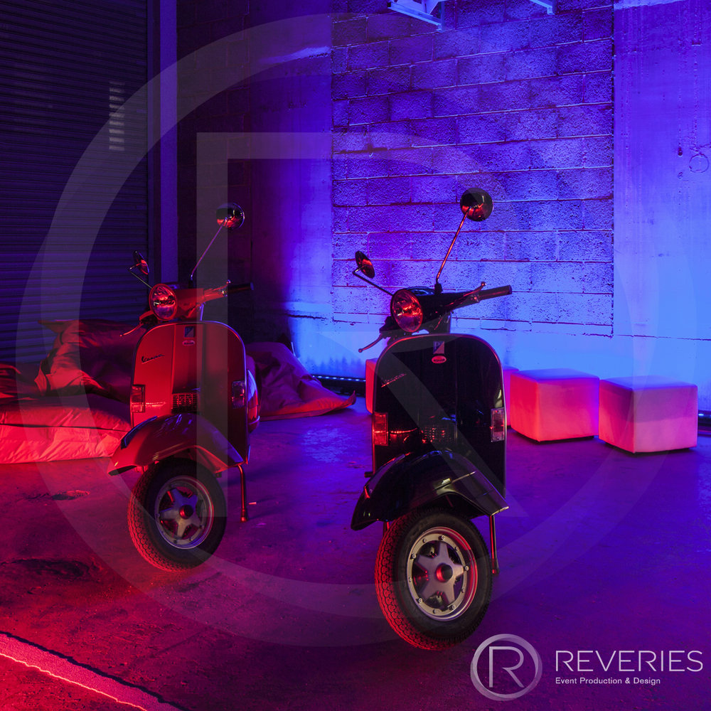 White Label - Moped props and lighting design