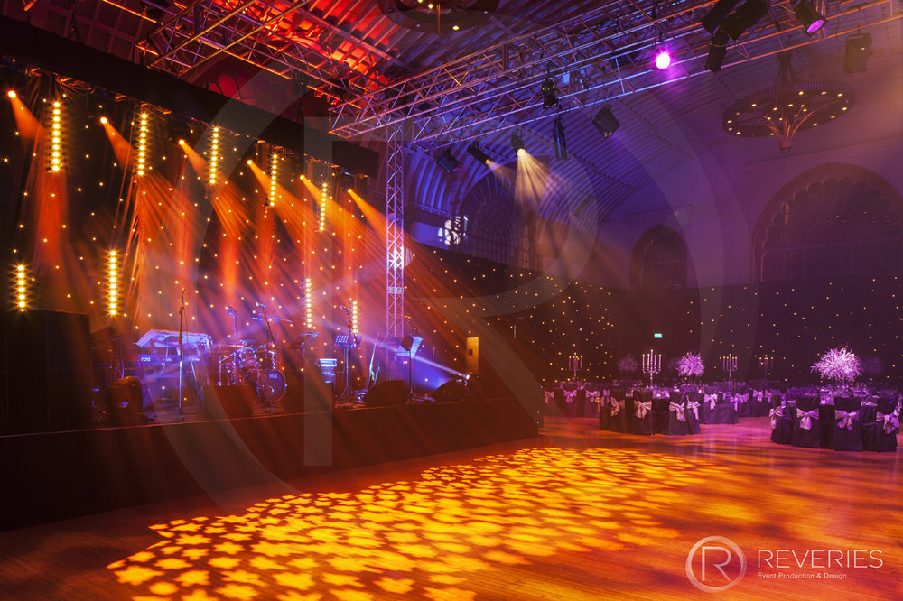 Gala Dinner - Creative lighting design for stage and dancefloor