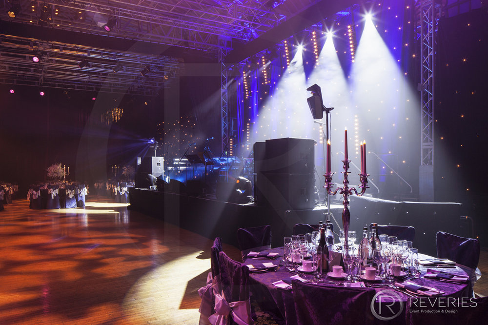 Gala Dinner - Controllable spot lights for picking up each table