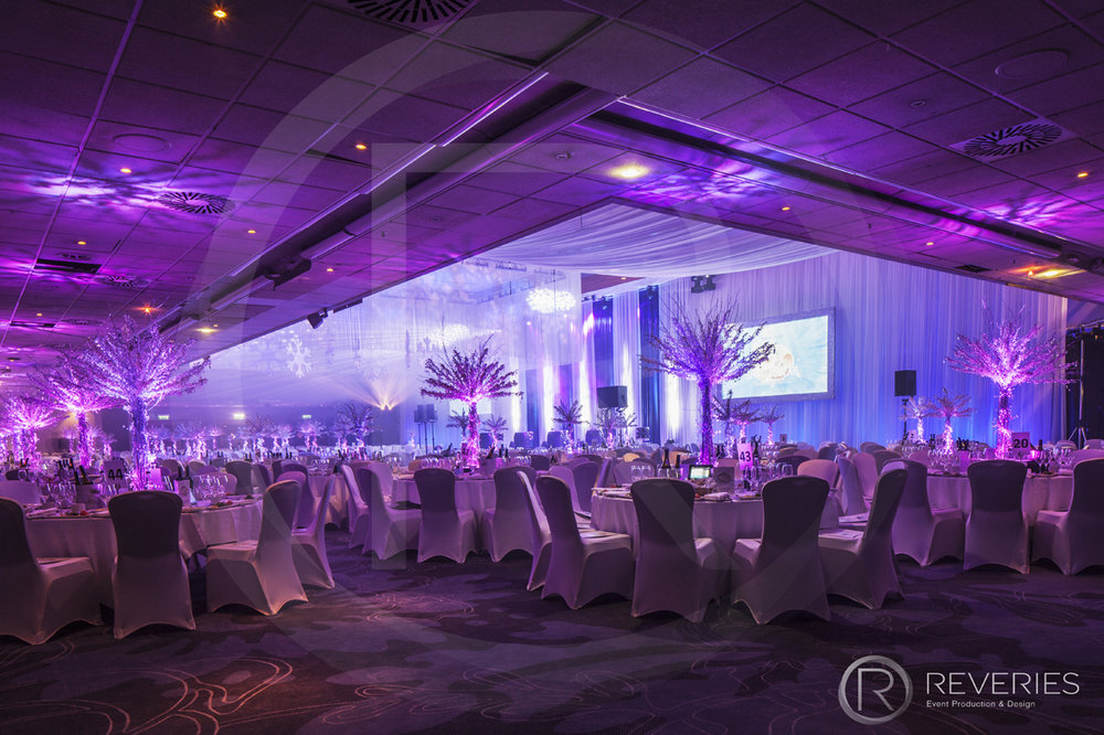 Snowman Spectacular - Stage and room design with stunning lighting design