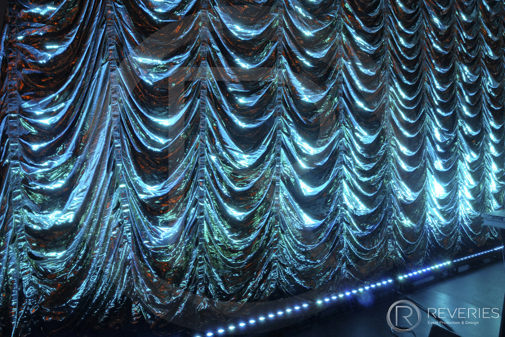 Reefer Curtain Theatre Festoon Drape Hire Brighton London