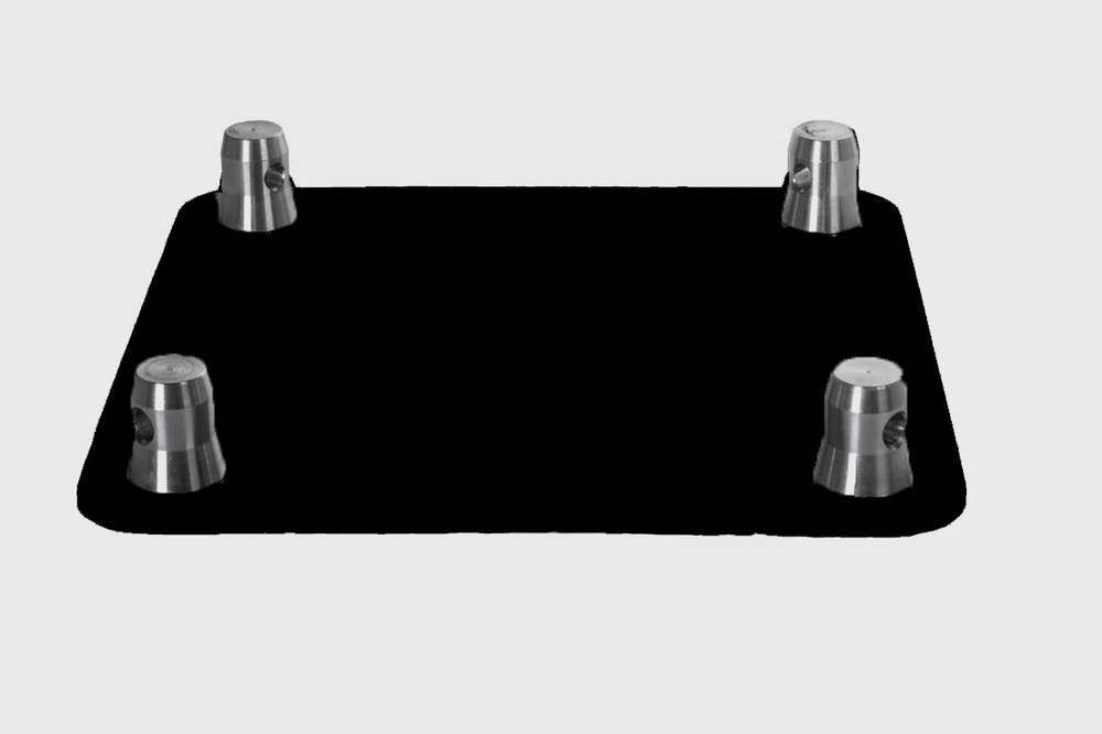 MILOS QUAD TRUSS - BLACK BASE PLATE - £8.50 DAILY / £17.00 WEEKLY