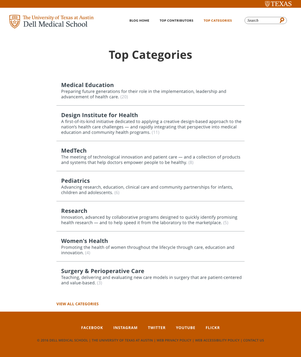 dell med school blog top categories