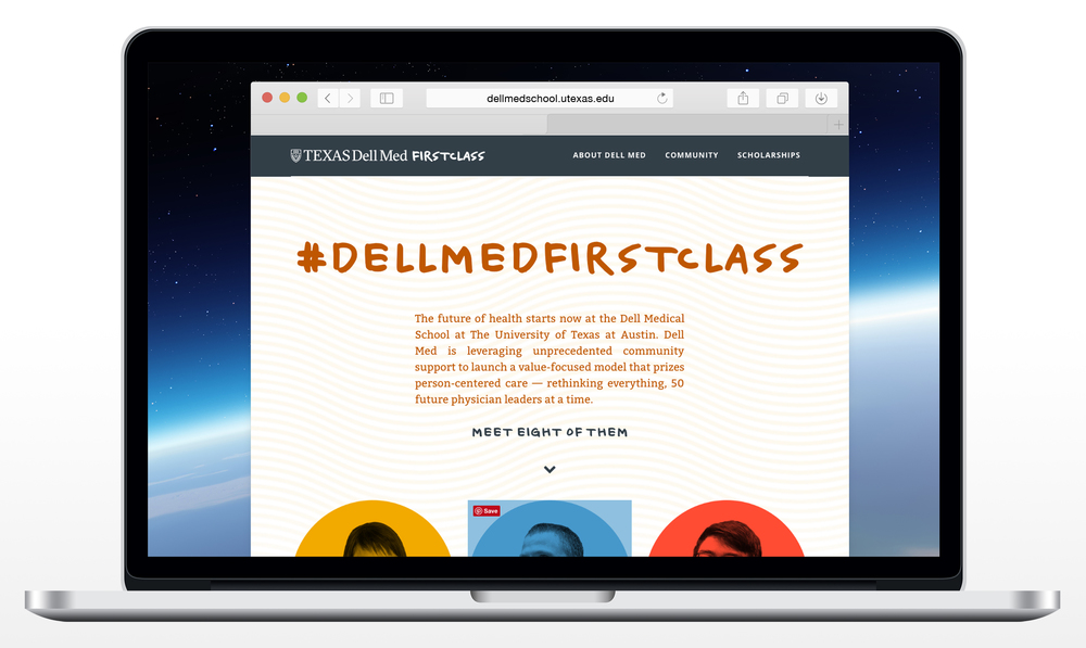 Dell Medical School First Class Homepage Design