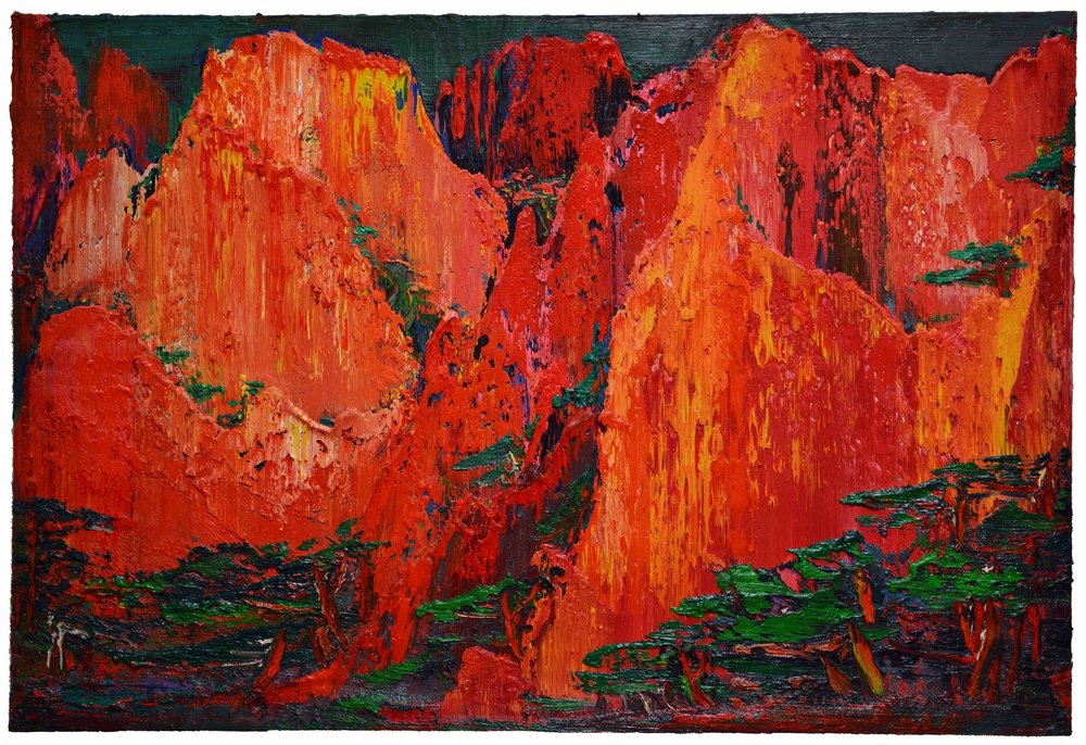 Glory Mountains 曙山 ,  2015 Yin ZhaoYang (c)  Oil on canvas 140 × 210 cm