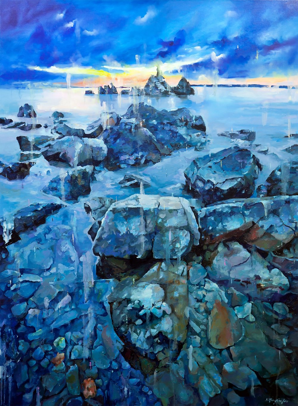 Seascape , 2016  Constantinos Ptochopoulos (c) Oil on wood 175 × 150 cm