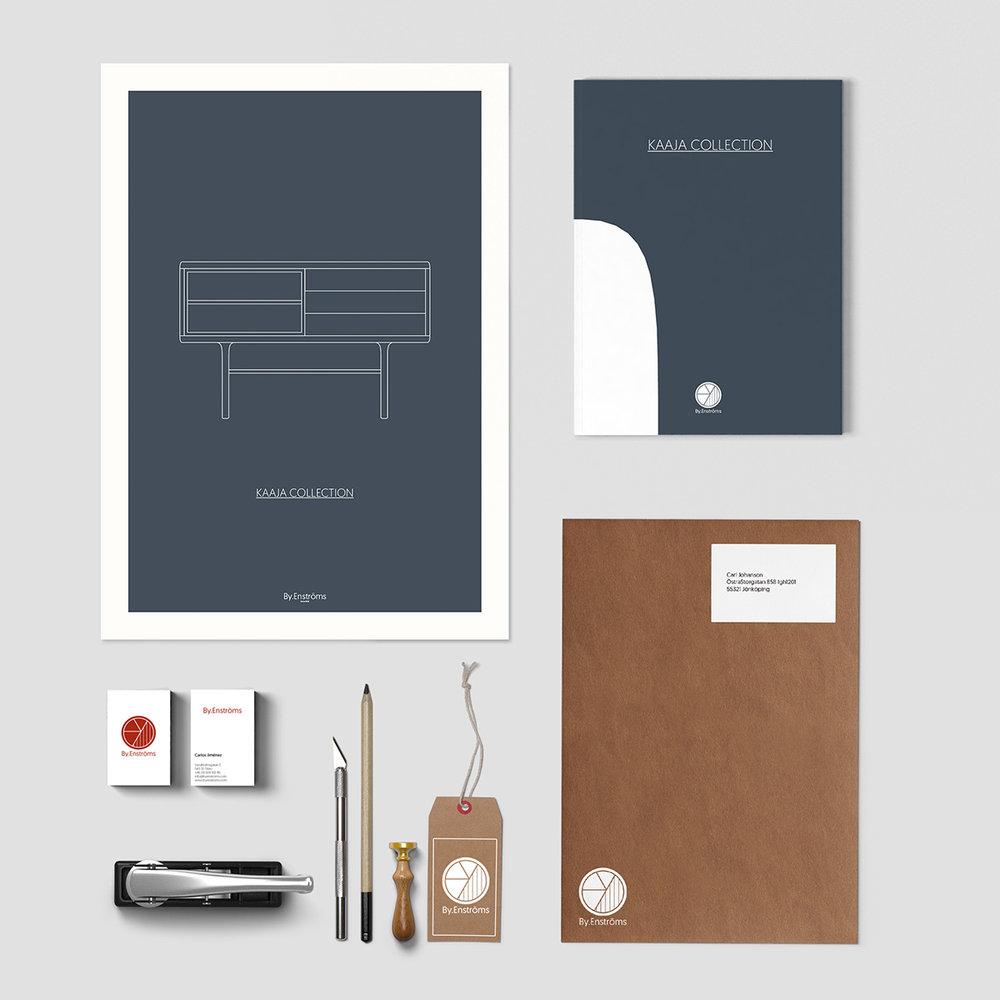 APLICACIONES - Una vez se diseñó la marca, se desarrollaron diversas aplicaciones de la misma, como por ejemplo, sobres, documentos, postales, tarjetas de visita, etiquetas, pósters...
