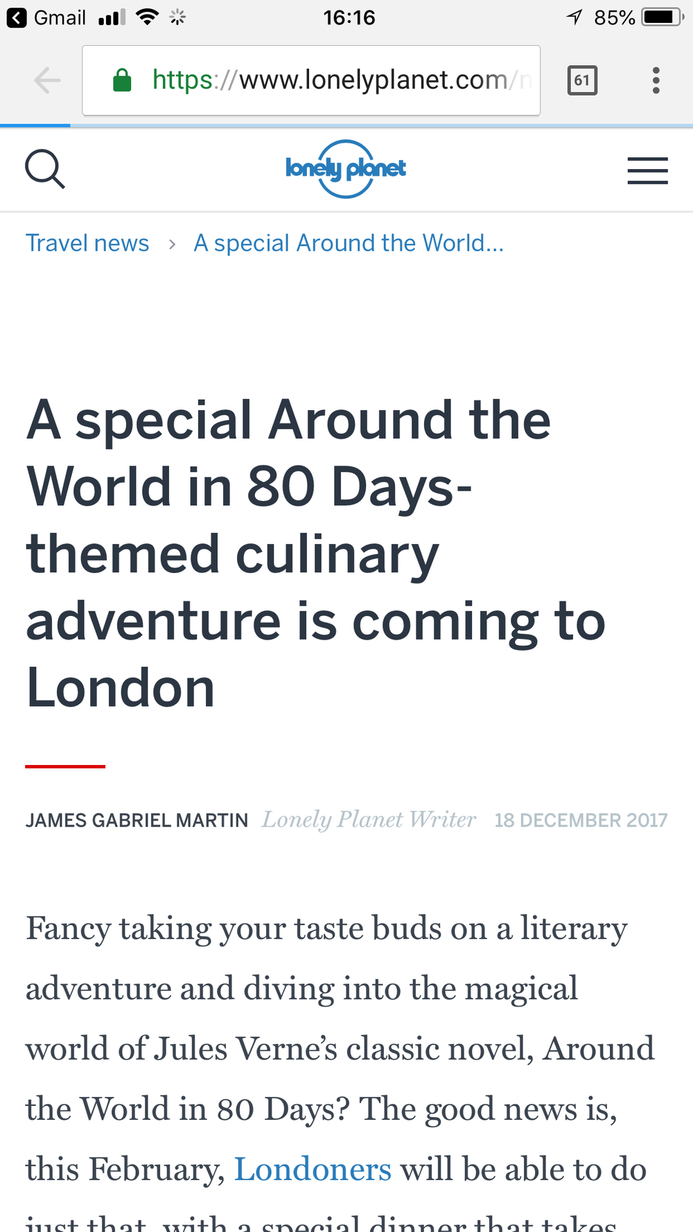 Lonely Planet, 18 Dec 17