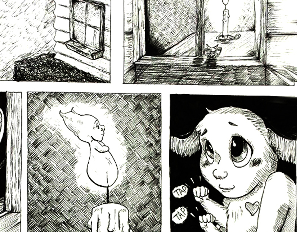 Moth To The Flame  - 2014     The age old theme of lost love...  1 page comic detailing the love of a moth and the light... - 1 week work period