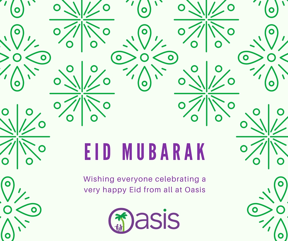 Happy Eid from all at Oasis Domestic Abuse Service