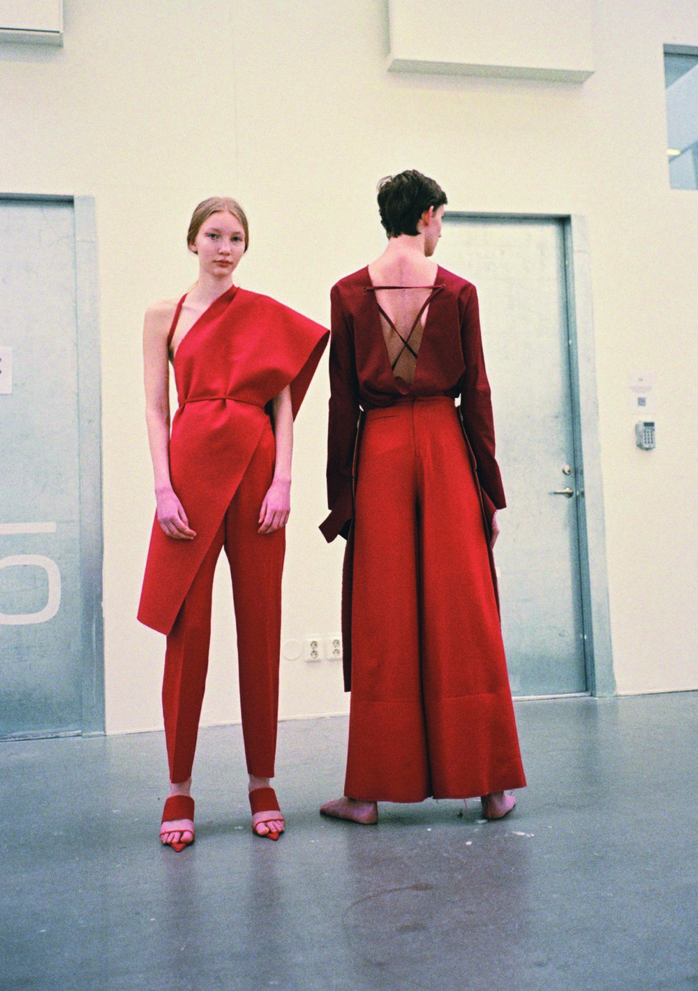 Shot for Coeval Magazine in Stockholm, Sweden by Kimberly Ihre, directed and styled by Ellen Grace, featured designer Mina Lundgren of Notions of Form, models from Mikas Stockholm >>  https://www.coeval-magazine.com/under-surveillance