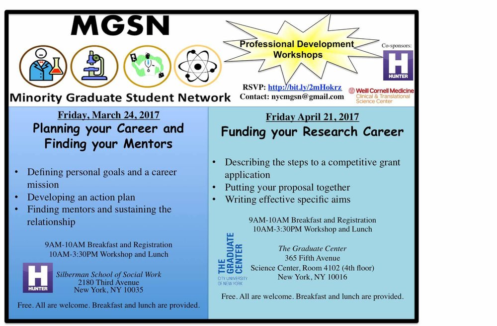 Upcoming Career Workshops at Hunter College