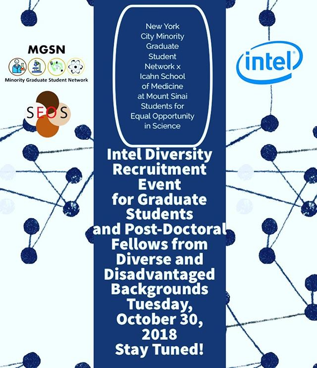 Special upcoming career development event presented by @nycmgsn x @seosatsinai on October 30, 2018.  Please stay tuned for details!