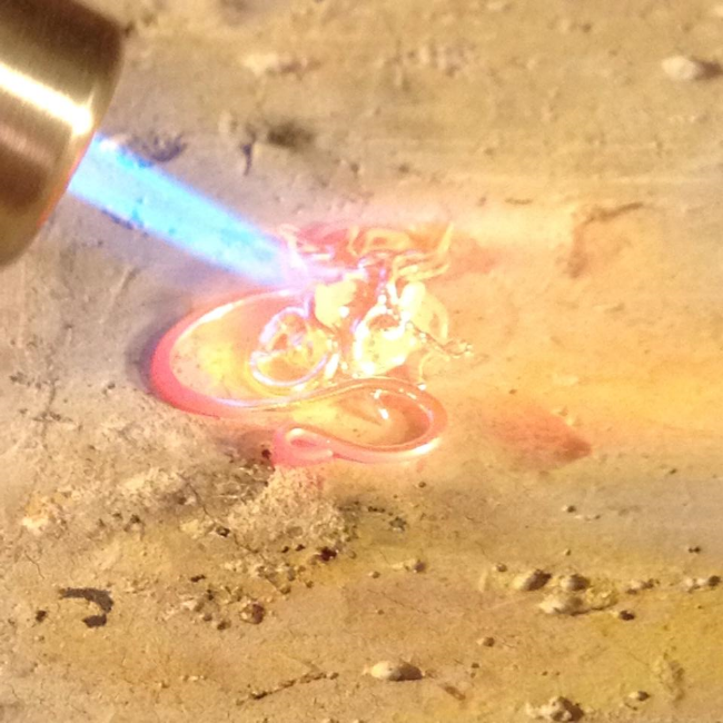 My husband had too much fun melting down my silver scrap!