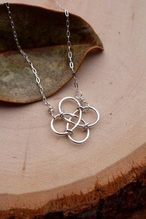69dce773dca27 Celtic Knot Necklace, .925 Silver, Ready to Ship