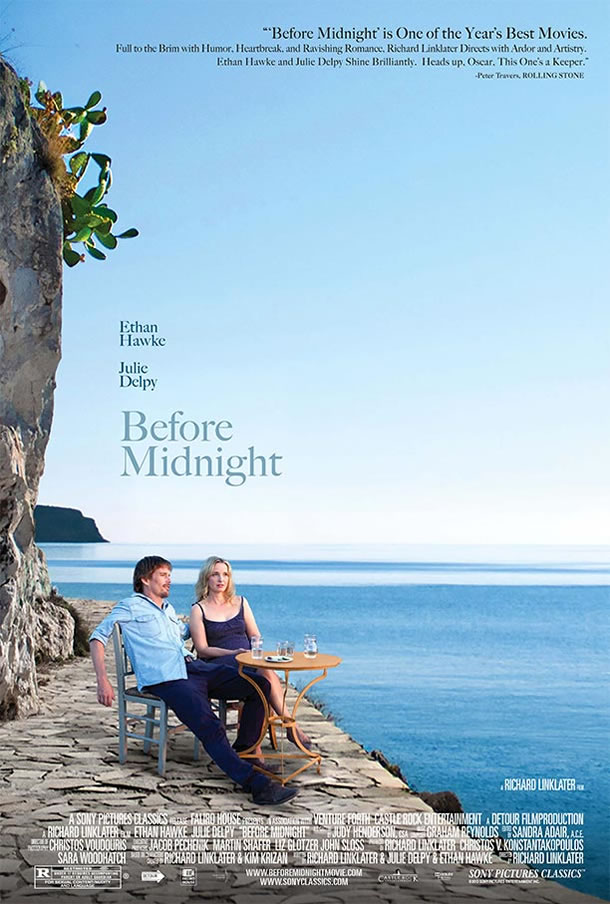 How much did I love Before Midnight? So much that when Fandango emailed to ask for a review, I actually felt inspired to write one: Before Midnight is the third entry in what may very well be my favorite movie trilogy of all time. You don't need to see Before Sunrise and Before Sunset first, but seeing them does make this film a richer viewing experience, one that really examines the nature of human beings and time. This is such an honest, unflinching look at love and relationships, so brilliantly written and structured, with performances so effortlessly real, you almost forget they're acting. Funny, sad, beautiful, and moving, it does what the best art should do: it shows us to ourselves and lets us draw whatever conclusions we want.