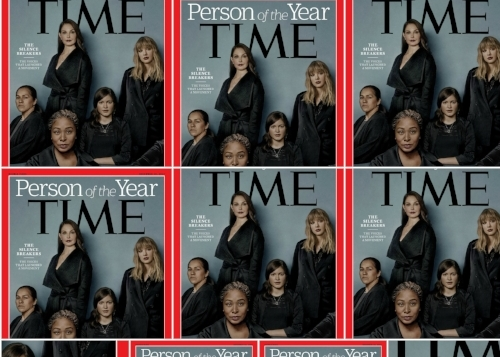 The powerful meaning behind the anonymous elbow on TIME's #metoo cover