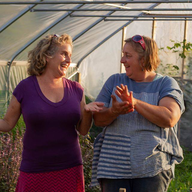 This #wcw goes out to the AMAZING Christina and Eliza of @sanctuaryherbsofprovidence who just agreed to grow and supply our custom fish cake spice mix!! ❤️🙏🏼 Thank you for hosting such a wonderful Twilight Farm Walk and for all that you do to support immigrant and refugee farmers  Be sure to check out Sanctuary Herbs of Providence's website and their recent feature in @npr's The Salt!