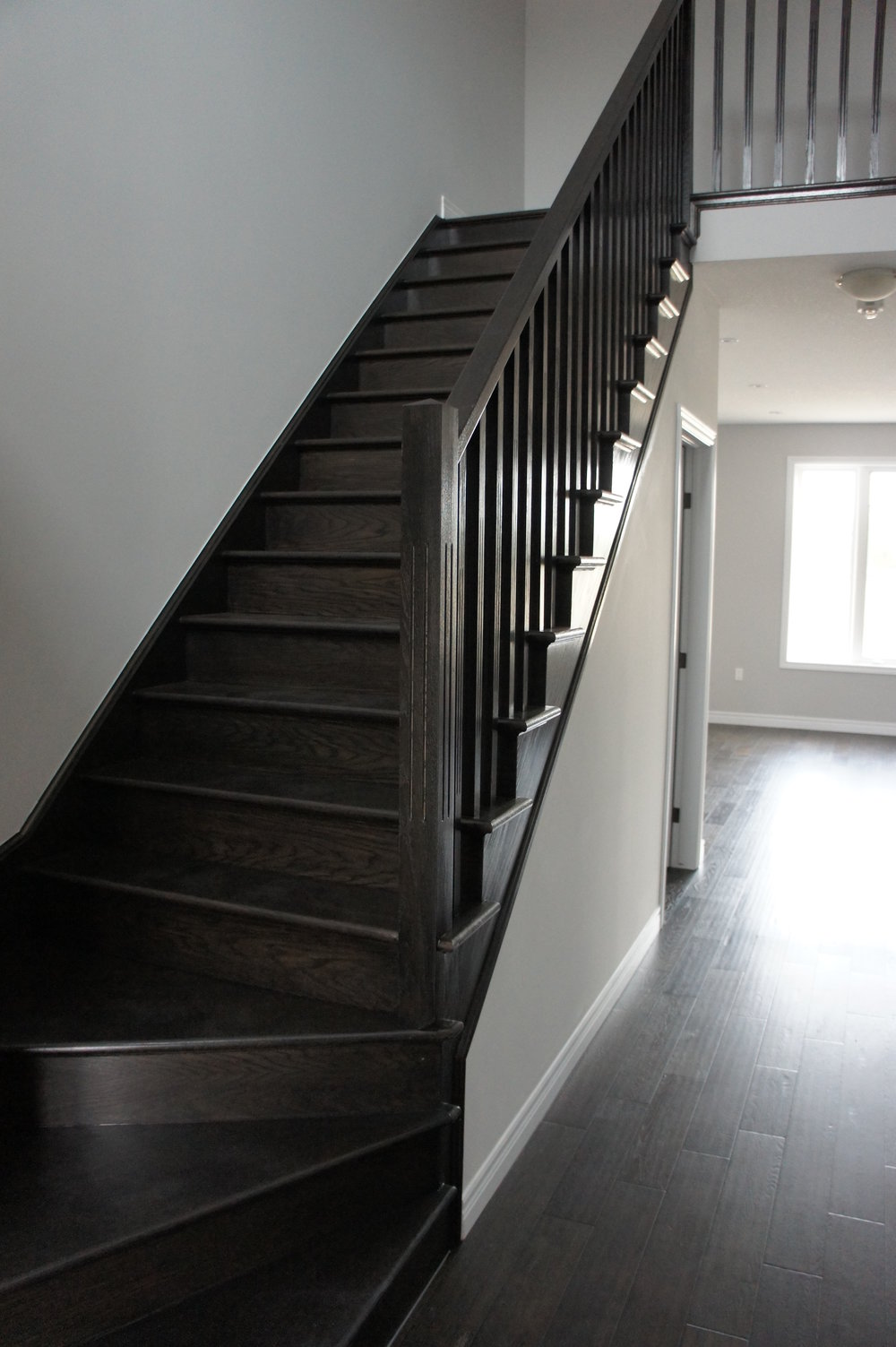 Hardwood Staircase   Make a statement that will last a lifetime by selecting a hardwood staircase. The beauty of natural wood will add value and character to your home. Customize your staircase with handrails, spindles, posts and stain.