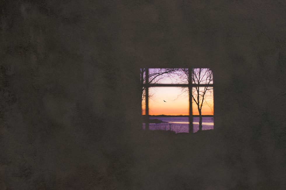 Gorgeous sunset through a window at The Inn at Perry Cabin in St. Michaels, MD