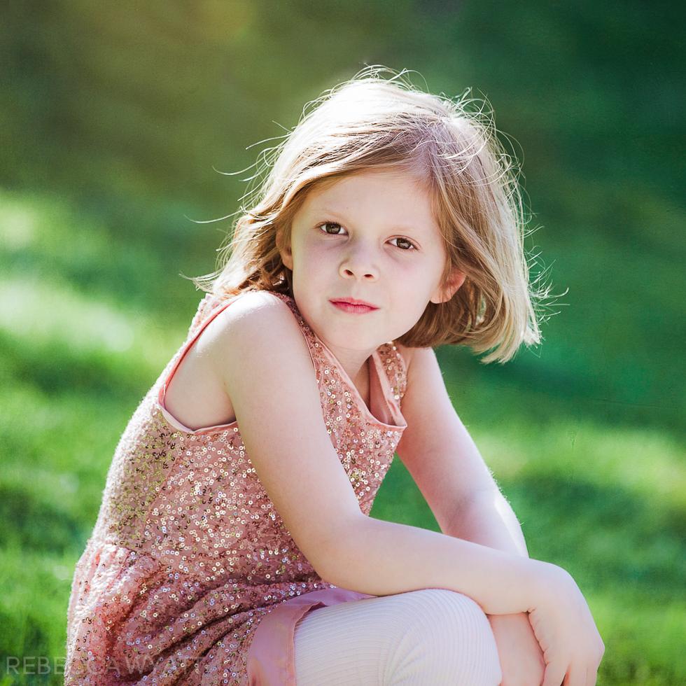 Portrait of beautiful redhead child.