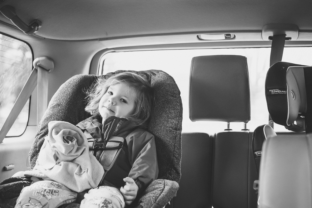 Sloane In Car Rebecca Wyatt Photography