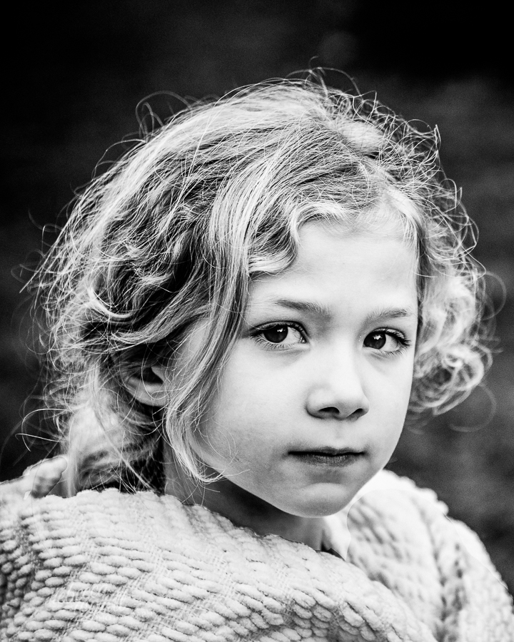 Winter Portrait Black & White by Rebecca White