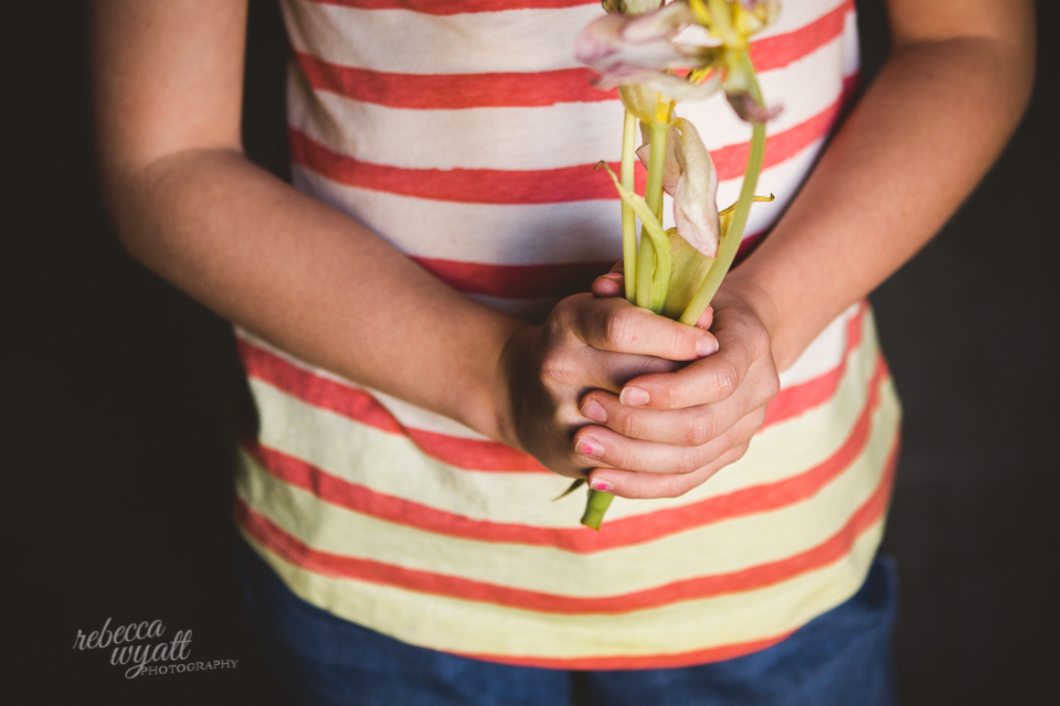Flowers in Hands