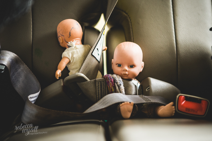 Dolls in the Car