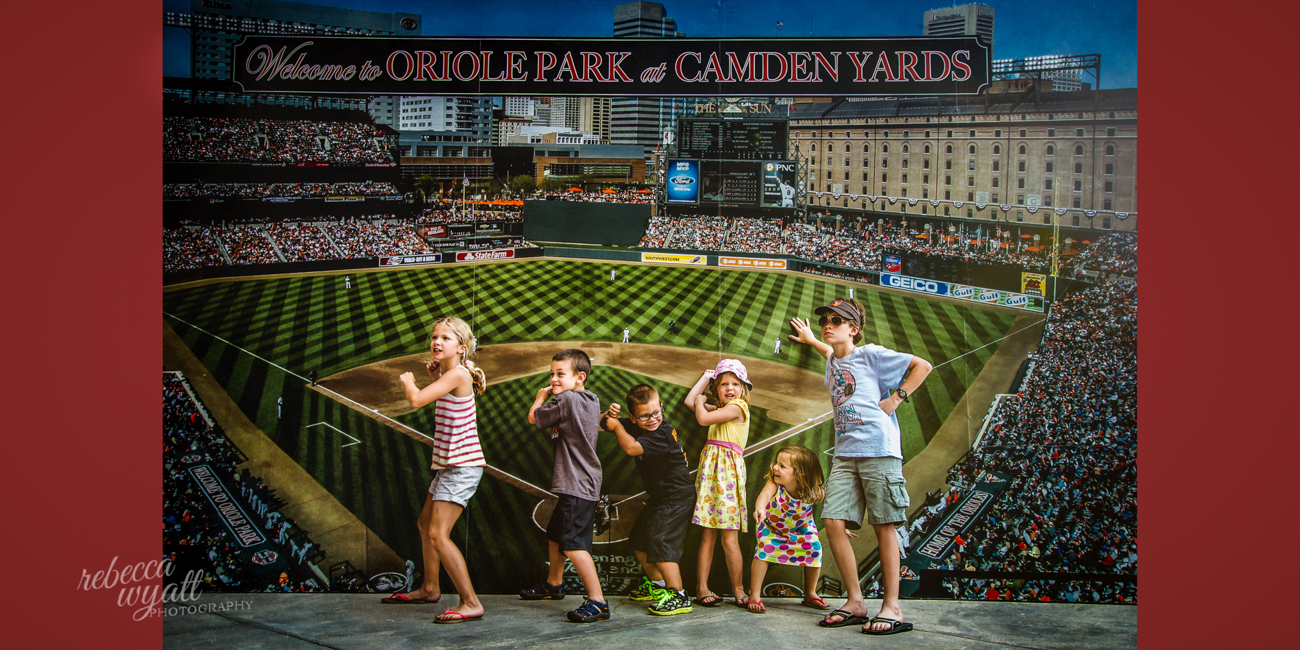 Family at Orioles Game at Camden Yards