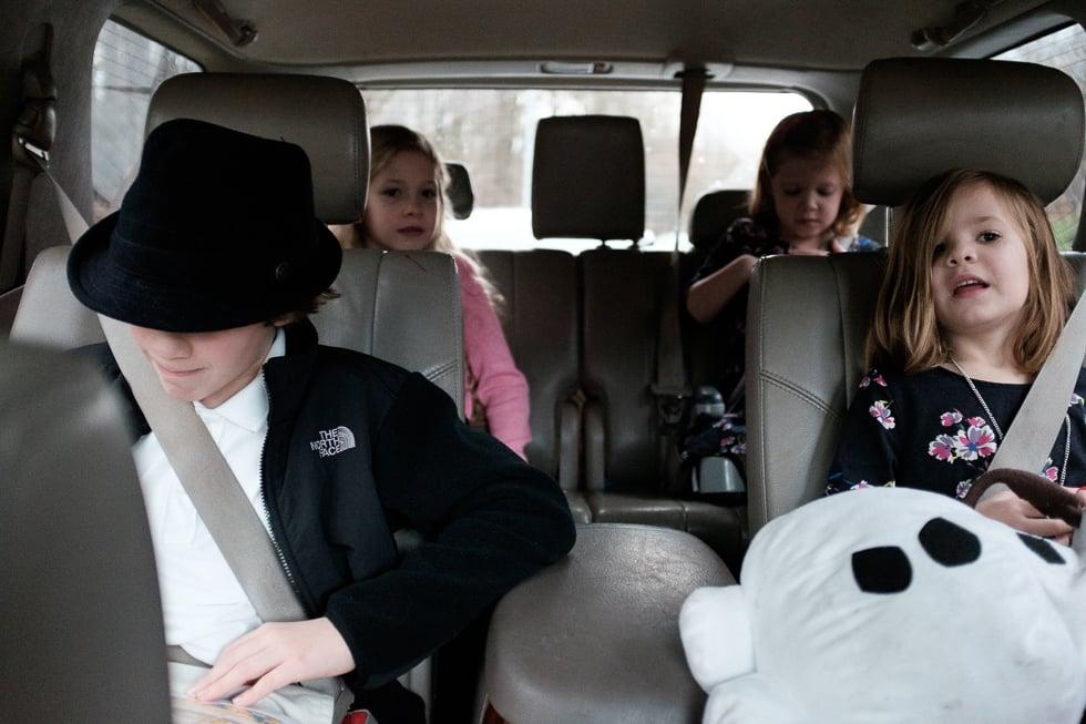 On the way to Christmas Mass