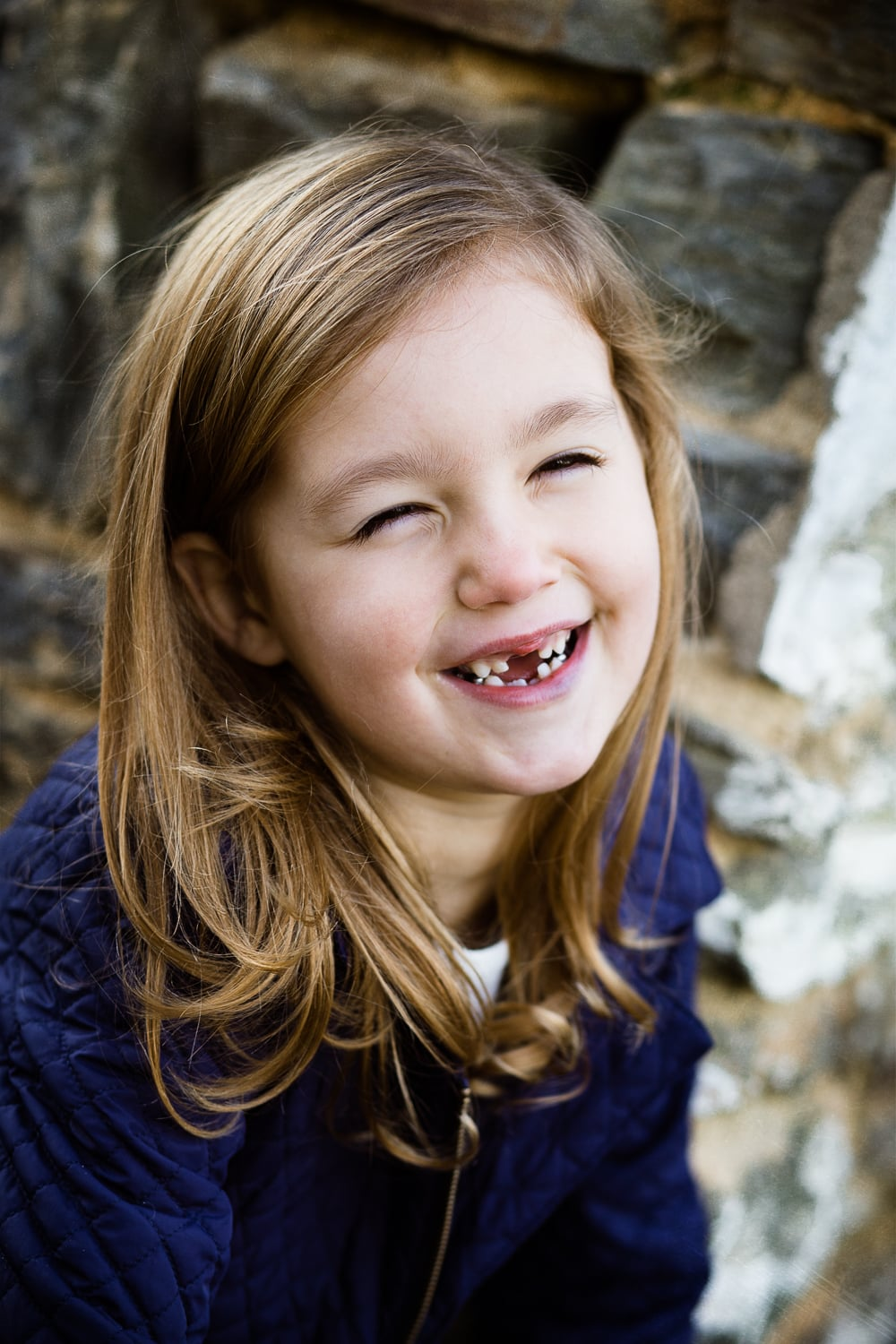 cute gap tooth grin photo of little girl