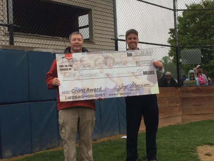 Foundation President Marc Anderson & Jim Pappas of Dover Little League