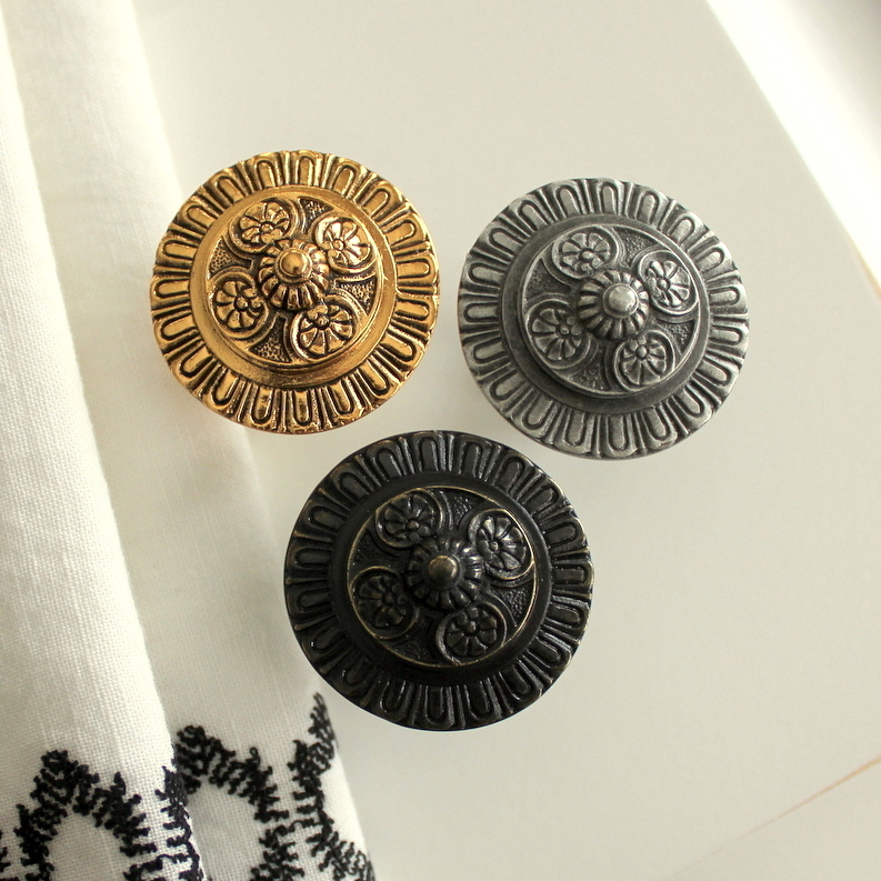 Kensington Knob Gold, Pewter, Dark Brass