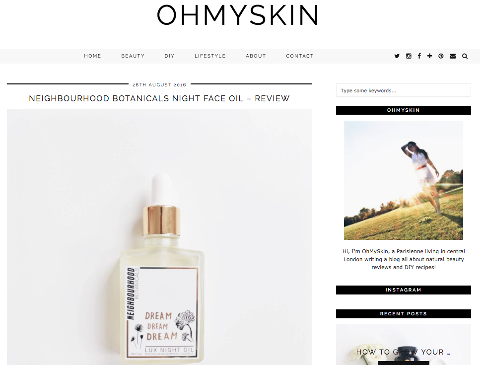 Oh My Skin -  Dream Dream Dream, Aug '16