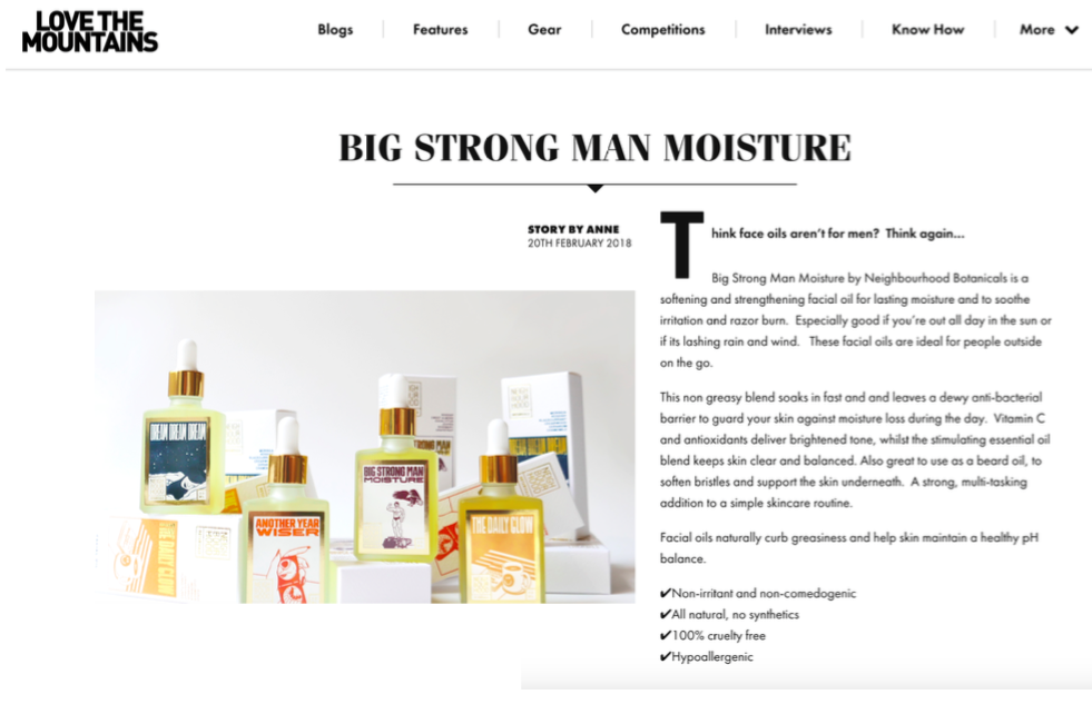 Love The Mountains - Big Atrong Man Moisture featured.